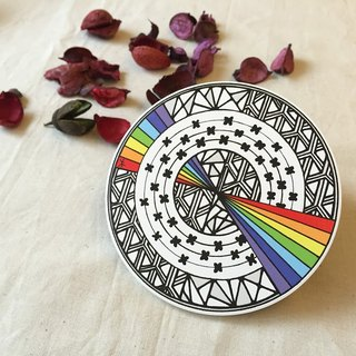 Ceramic Tangles Coaster/ Rainbow