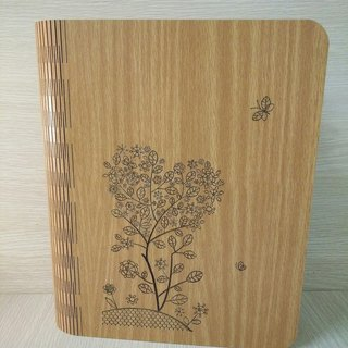 Taiwan's stack [customization - color and pattern can be replaced] wood: patent (A5) - body shape notebook - heart of the tree notebook / album / stationery / folders / gifts / gifts