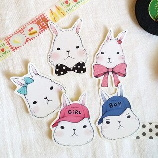 Matte texture stickers / Meng Meng Rabbit / Group 13 (5 in)