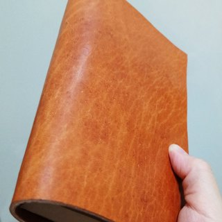 Leather handbook - custom logo as shown