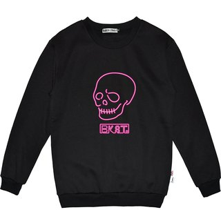 British Fashion Brand -Baker Street- Neon Skull Sweater