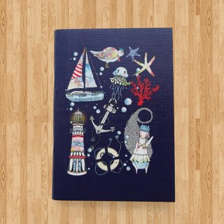 Notebook A6 - Let's go to the sea ( Navy Blue )