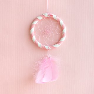 Dream Catcher 8cm - Two-tone (white + pink) exchange gifts, birthday gifts