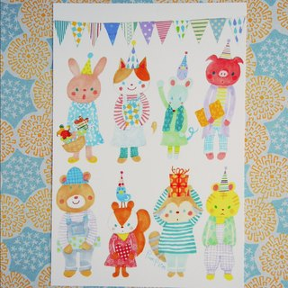 Postcard birthday card Animals 04