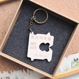 #成品制作This date the best leather key ring BEST DATE Italian 鞣 鞣 lettering