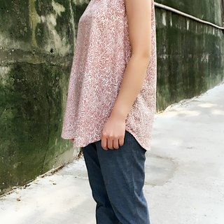 i'm simple and comfortable Tencel printing hand-made vest
