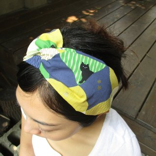 Cross hair band (elastic manual) - Hide and Seek - Blue Green