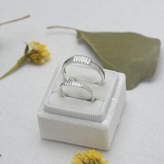 Couple's daily (sterling silver couple ring lettering ring Valentine's Day gift) - C% handmade jewelry