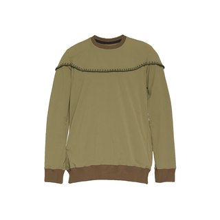 oqLiq - Display in the lost - Shell Embroidery Thread University T (olive green)