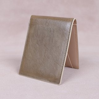 Money Clip / Card Case / Italy Cow Leather(KhaKi)