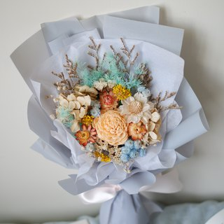 To be continued | Blue Orange Dry Flower Bouquet Spot
