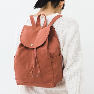 [New] BAGGU side pocket back pack - fashion earth color