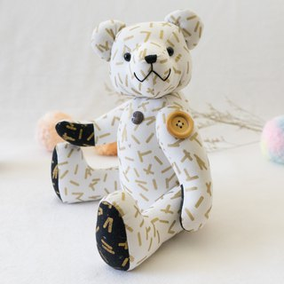 Teddy bear printing - Taco bear / metal group / 34cm / head and limb joints