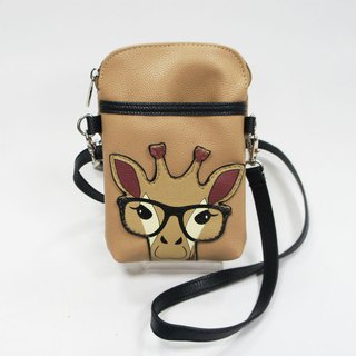 Giraffe child mobile phone oblique backpack / portable bag / animal bag - cool music village spot sales