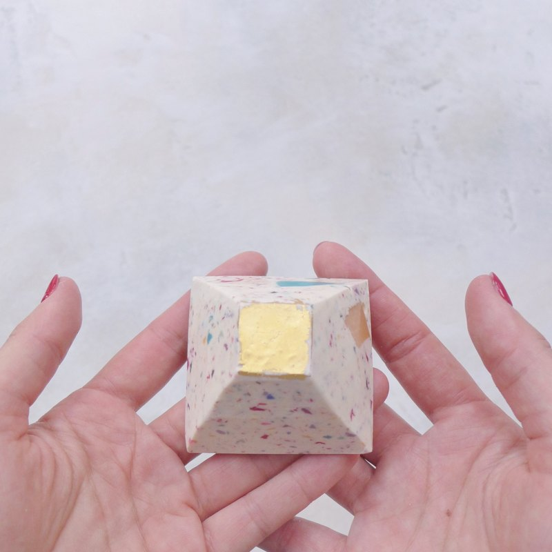 Confetti Gold Leaf Soap Pyramid