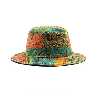 Calf Village Calf Village Men's and Women's Handmade Double-sided Cap Fisherman's Hat Gentleman's Hat Retro Fashionable Color {Rock Color Butterfly} 【H-328】