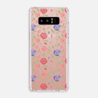 SMALL FLORAL【GOLDEN PINK】Note5 Note8 U11 CRYSTALS PHONE CASE