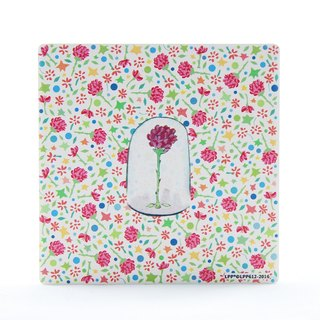The Little Prince Classic authorization - absorbent Coasters: roses in glass [] (circle / square)