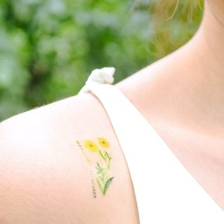 Peach temporary tattoo buy 3 get 1 Floral tattoo party wedding decoration gift