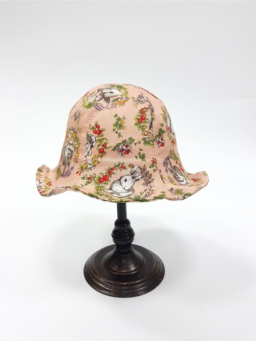 Tulip Flower Hat - English Rabbit (Pink) #花帽