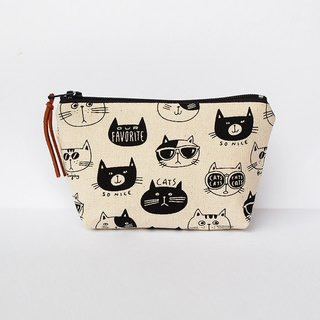 Cat head small storage bag