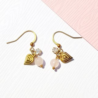 Summer Xinghai Party - Flower Fire Pink Crystal Earrings Minimalist Geometric Tanabata Music Sacrifice