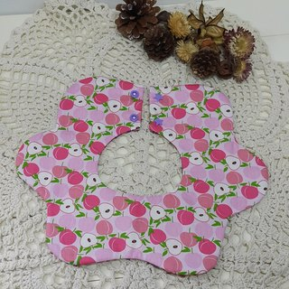 Baby peach flowers pocket / baby bibs / bibs [FL171102]