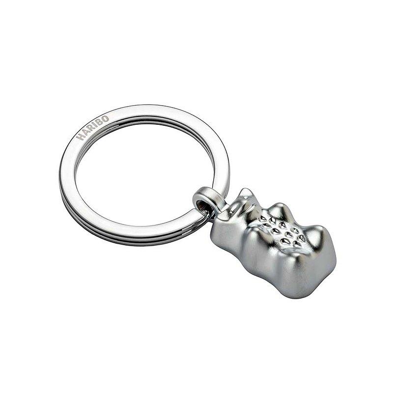 【客製化雷射刻印】HARIBO X TROIKA 聯名金熊小熊軟糖鑰匙圈(銀)