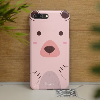 iphone case the pastel pink bear for iphone5s,6s,6s plus, 7,7+, 8, 8+,iphone x