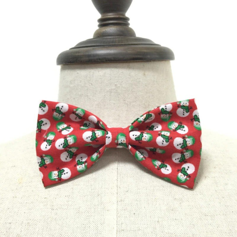 Christmas snowman Christmas pattern playful series of hand-tie Bow Tie shooting performance props