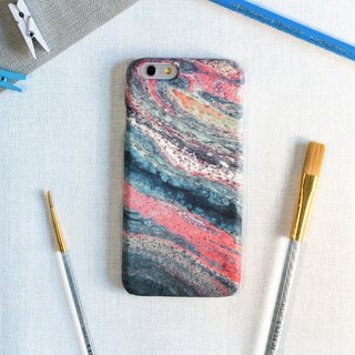 Pink-orange and green-blue Abstraction. Matte Case (iPhone, HTC, Samsung, Sony)