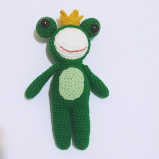 prilnana_ Frog Prince, wool dolls, doll knitting