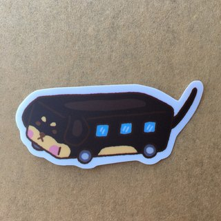 """Art of fish"" dachshund bus small waterproof stickers -SS0079"