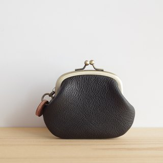 Leather Coin Purse Case Black