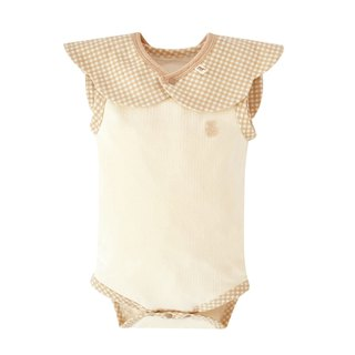[SISSO Organic Cotton] classic grid cool sleeveless package fart clothing + happy cloud bib SML