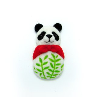 <Wool felt> Panda with Bamboo (L Size) - by WhizzzPace