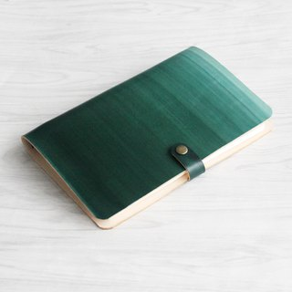 The first layer of vegetable tanned leather dark green gradient dyeing a5 loose-leaf notebook custom gift creative gift