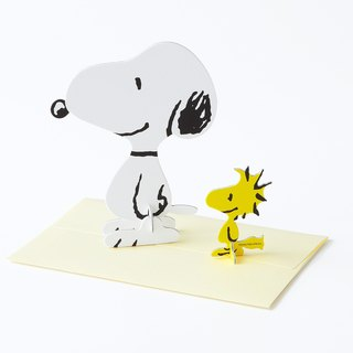 立體卡片 史努比 Peanuts  Snoopy & Woodstock/Standing Message Card