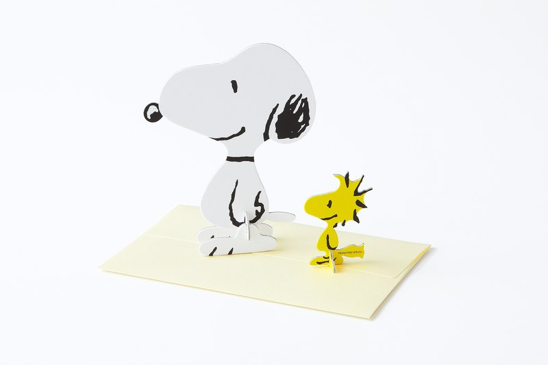 Pop-up Card Snoopy Peanuts Snoopy & Woodstock / Standing Message Card -  Designer Prime Co. | Pinkoi