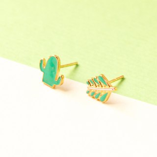 Cactus | Asymmetrical Handmade Earrings
