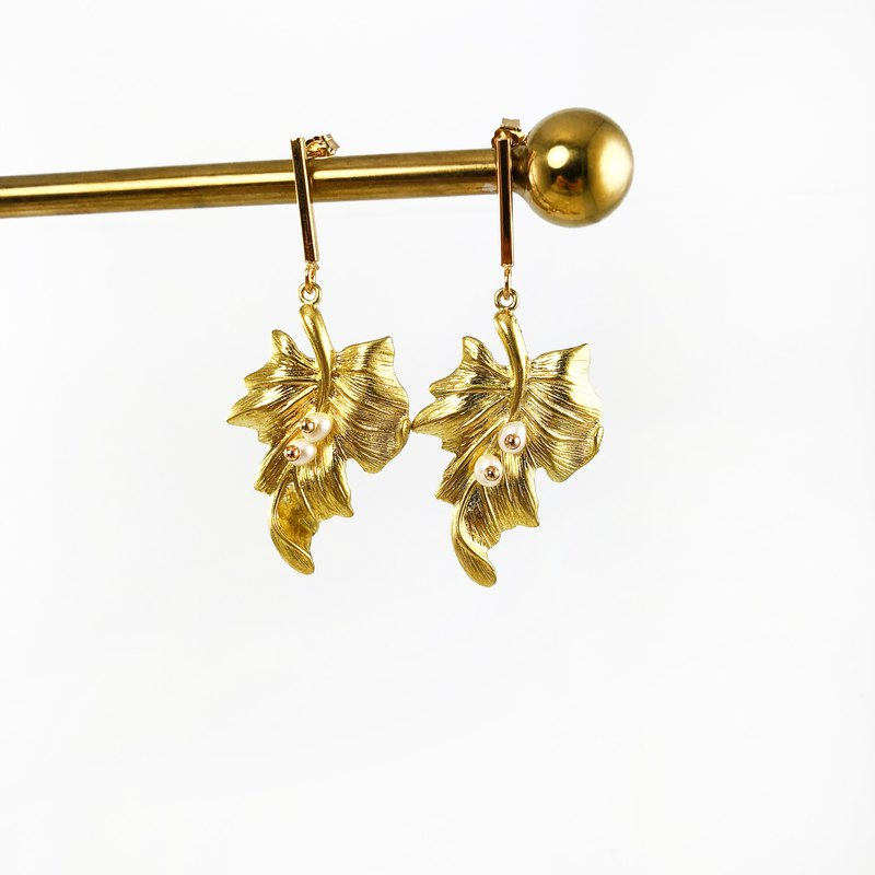 925 Silver Gold Plated Earrings 【wedding】 【New Year Gift】Japanese Style Earrings