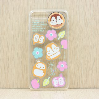 iPhone 8/7 Plus TPU Back Case - Squly & Friends Rainbow Theme