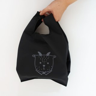 Environmentally friendly small shopping bag beverage food bag fat sheep Mr. fog black