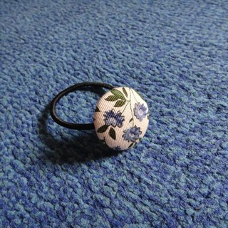 ◕ Japanese cloth Limited. (C) _ Egeria densa blue cloth button hair band random shipments [] C48CIX12