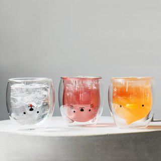 Double-Wall Glass Animal (Set of 3)