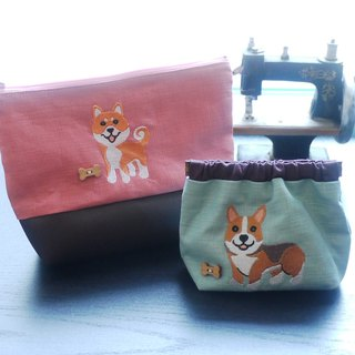 Perfect Matching Cosmetic Bag + 1+1 Combination Offer All Facilities Optional Embroidery Name Please Remarks