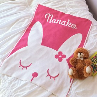 Customized Name blankets ★ Bunny 60x80cm