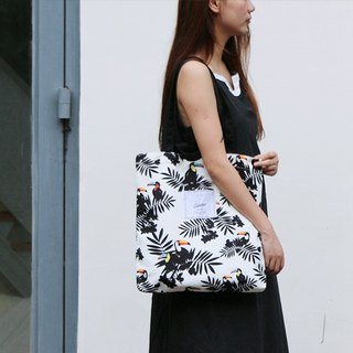Color-Up Shoulder / Bag / Canvas Bag * Big Bird