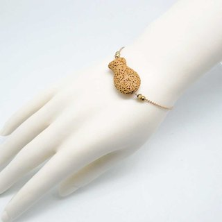 Yellow Fish Lava Diffuser Bracelet Gold plated Copper Chain with Extend Chain