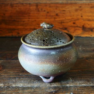 Bizen incense burner 【bird】 (with paulownia box) i-052